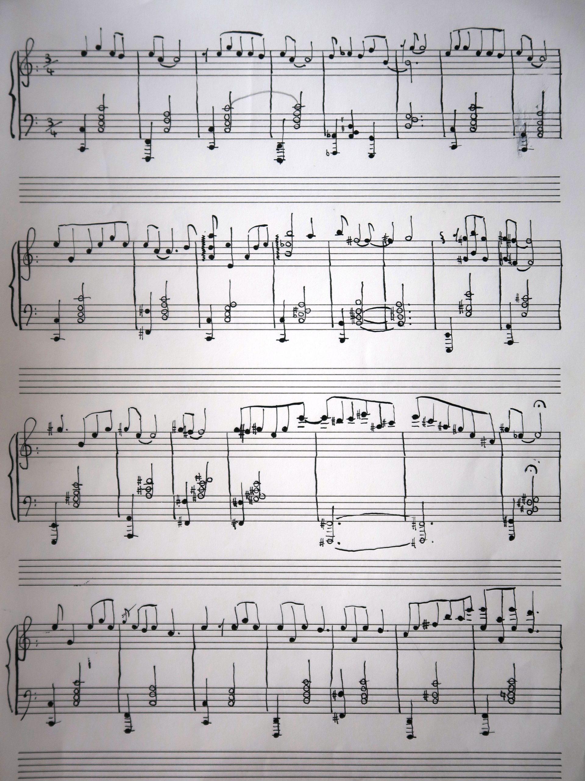 Tre pezzi per pianoforte manoscritto Improvviso